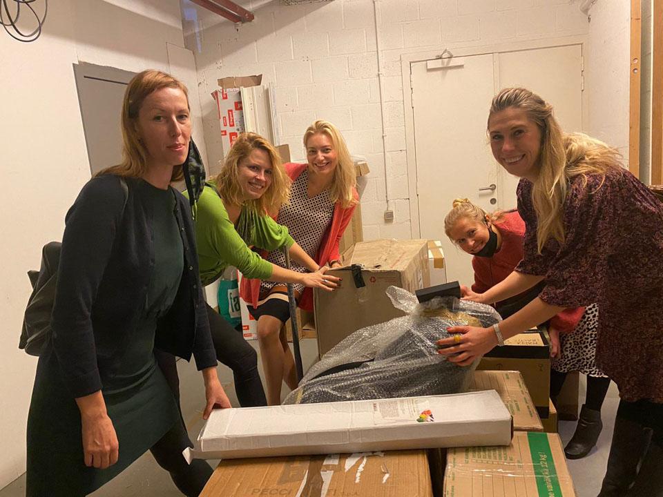 Baltic design stories team unpacking designer creations during brussels design month