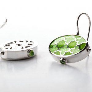 Silver_green_enamel_earrings_with_peridot-ENAMELI-2