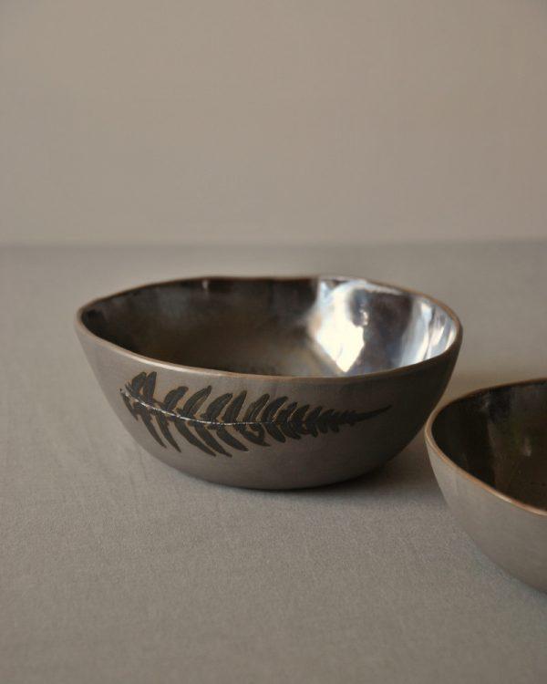 Sidrabceramics handmade set of bowls